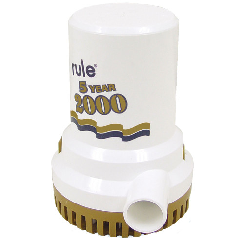 "Rule 2000 G.P.H. ""Gold Series"" Bilge Pump, 09"
