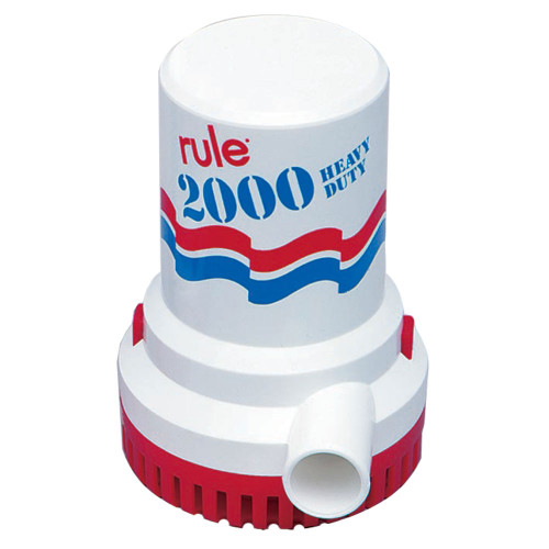 Rule 2000 GPH Non-Automatic Bilge Pump w/6' Leads, 10-6UL