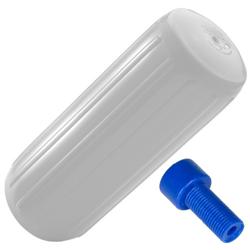 """Polyform HTM-3 Hole Through Middle Fender 10.5"""" x 27"""" - White w/Air Adapter, HTM-3-WHITE"""