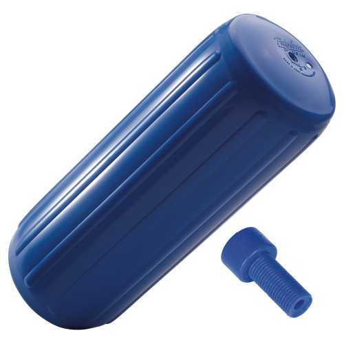 """Polyform HTM-4 Hole Through Middle Fender 13.5"""" x 34.8"""" - Blue w/Air Adapter, HTM-4-BLUE"""