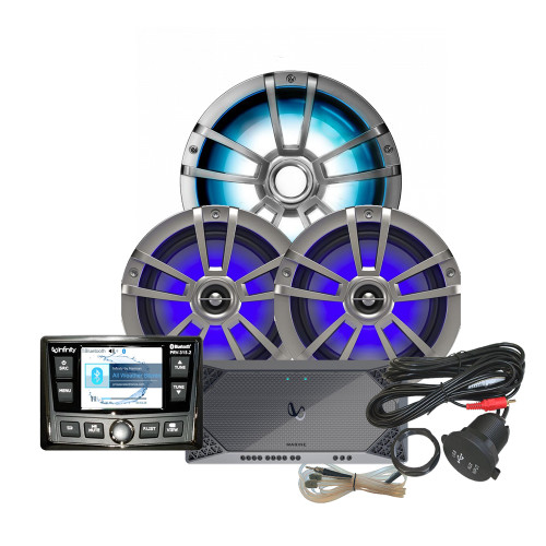 Infinity REFM315.2 Package w/Stereo, Amplifier, Speaker, Subwoofer, RGB Control, USB Extender & RGB Control