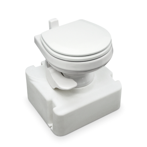 711-M28 Standard Height, Gravity-Discharge Toilet Dometic, Available White and Bone