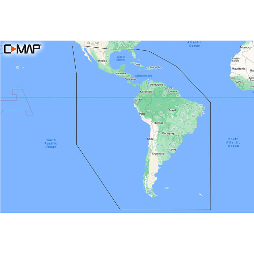 C-MAP M-SA-Y038-MS Discover South America & Caribbean