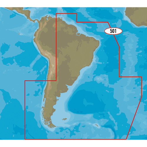 C-MAP 4D SA-D501 Gulf of Paria to Cape Horn