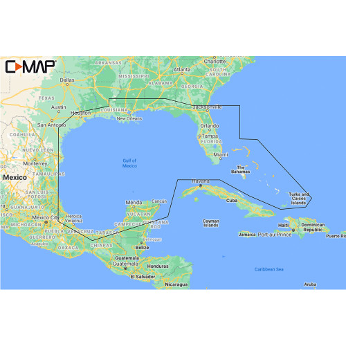 C-MAP M-NA-Y204-MS Gulf of Mexico to Bahamas REVEAL™ Coastal Chart