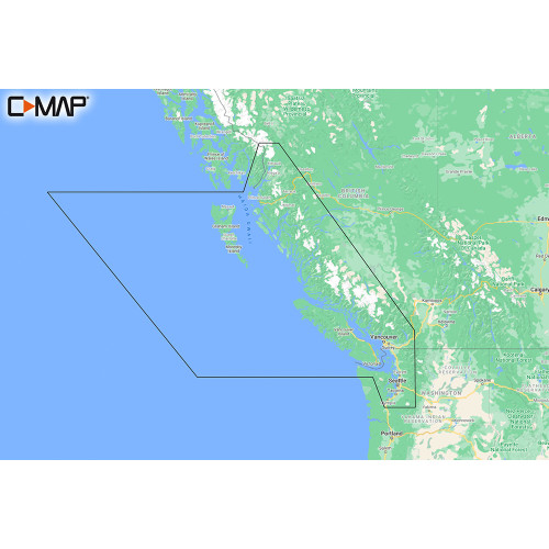 C-MAP M-NA-Y207-MS Columbia & Puget Sound REVEAL™ Coastal Chart