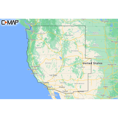 C-MAP M-NA-Y211-MS US Lakes West REVEAL™ Inland Chart