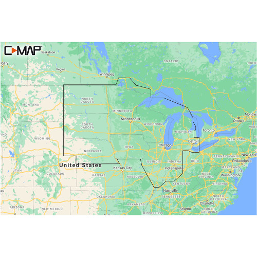 C-MAP M-NA-Y212-MS US Lakes North Central REVEAL™ Inland Chart
