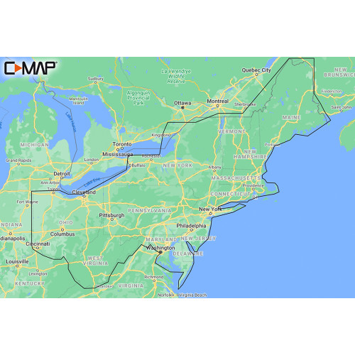 C-MAP M-NA-Y213-MS US Lakes East REVEAL™ Inland Chart