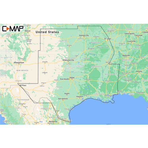 C-MAP M-NA-Y215-MS US Lakes South Central REVEAL™ Inland Chart