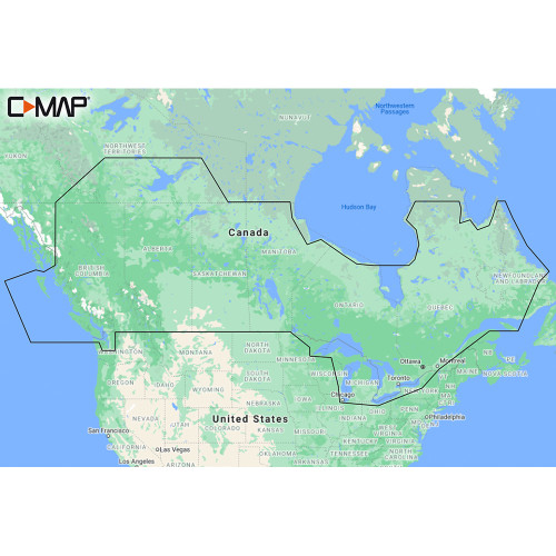 C-MAP M-NA-Y216-MS Canada Lakes REVEAL™ Inland Chart