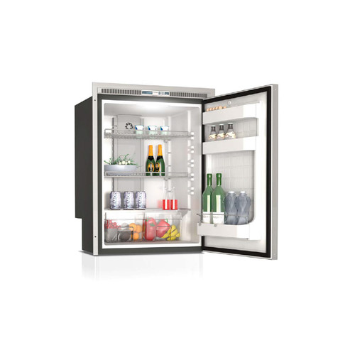 Vitrifrigo  C180IXP4-EFV, Stainless Steel, Refrigerator only, Stainless steel front, Flush flange, Forced air evaporator, 12/24dvc - 115/230VAC - 50/60Hz