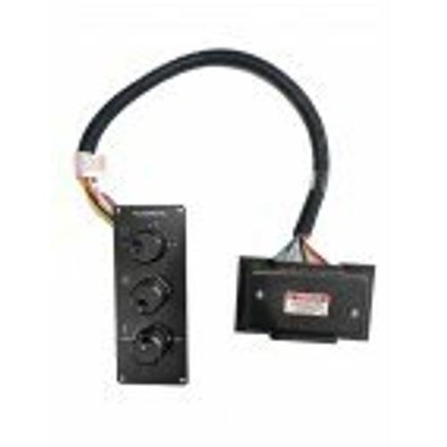 DOMETIC 3 Knob Switch Black Mechanical Control 10' w/Plug 230V - 222000601