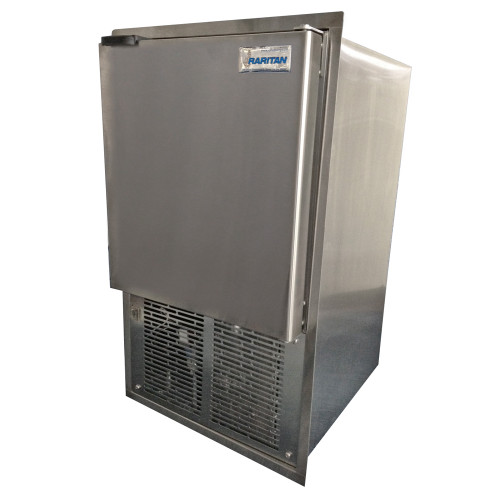 Raritan Icerette Automatic Ice Cube Maker - Stainless Steel - 115v - Built-in Flange Mount