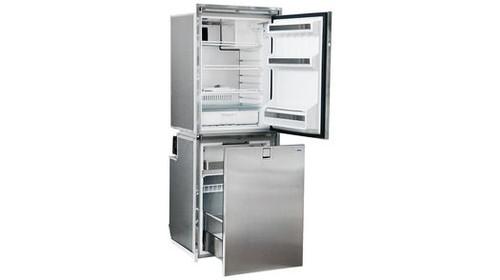 Isotherm Cruise 260 Combi Stainless Steel Refrigerator/Freezer - AC/DC - 9.2 cu. ft. (4.6 cu.ft.fridge / 4.6 cu.ft. Drawer fridge) - Right Swing