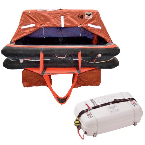 VIKING Coastal Life Raft 6 Person Low Profile Container