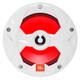 """JBL MS8LW 8"""" 450W Coaxial Marine Speaker RGB Illuminated White Grill - Pair - Club Series"""