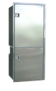 Isotherm Cruise 195 Stainless Steel Fridge/Freezer - AC/DC, Right Swing, 4 - Sided Stainless Steel Flange