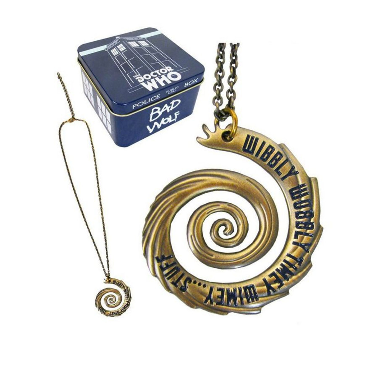 Doctor Who Wibbly Wobbly Vortex Gold Pendant Necklace 26974