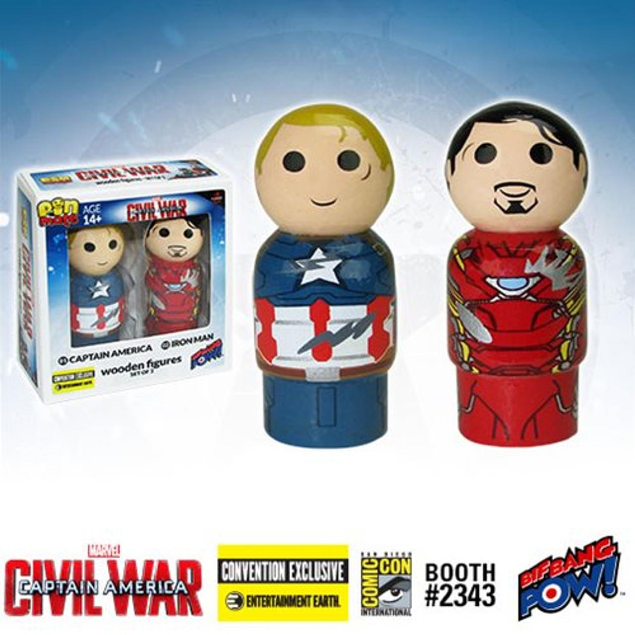 Captain America Pin Mate Wooden Figure