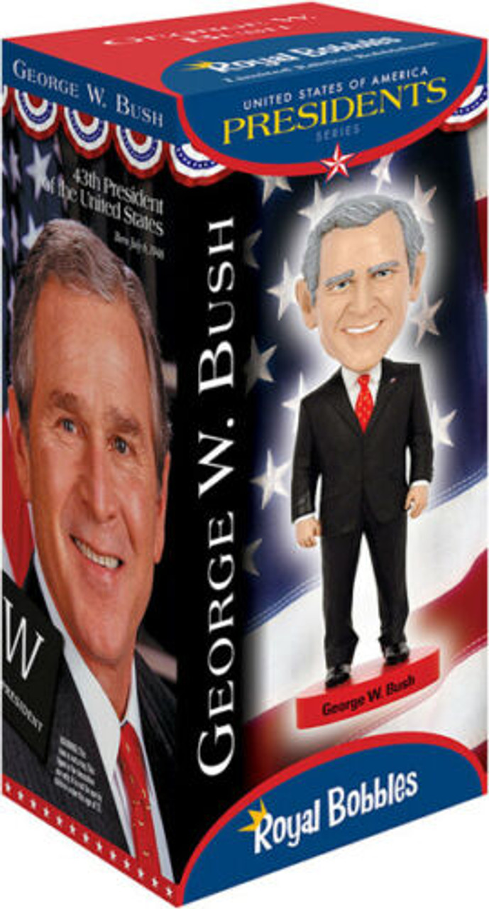 Bush Bobblehead Figure 010214 ROYAL BOBBLES présidents George W