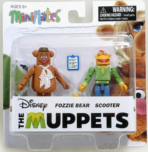 The Muppets Minimates s1 Fozzie Bear & Scooter figures Diamond 19488
