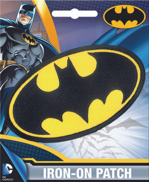 DC Comics Batman Logo Iron-On Patch Ata-Boy 10229