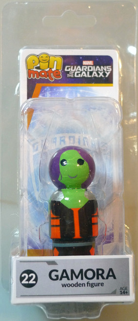 Guardians of the Galaxy Pin Mate Wooden Fig Wave 1 22 Gamora 05246