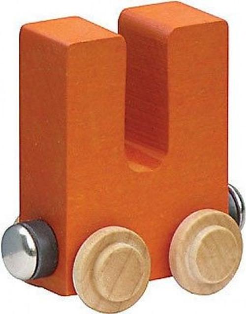 Name Train - Bright Color Childrens Wooden Trains Letter U