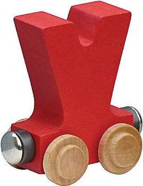 Name Train - Bright Color Childrens Wooden Trains Letter V