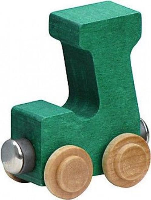 Name Train - Bright Color Childrens Wooden Trains Letter J