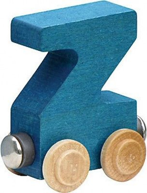 Name Train - Bright Color Childrens Wooden Trains Letter Z