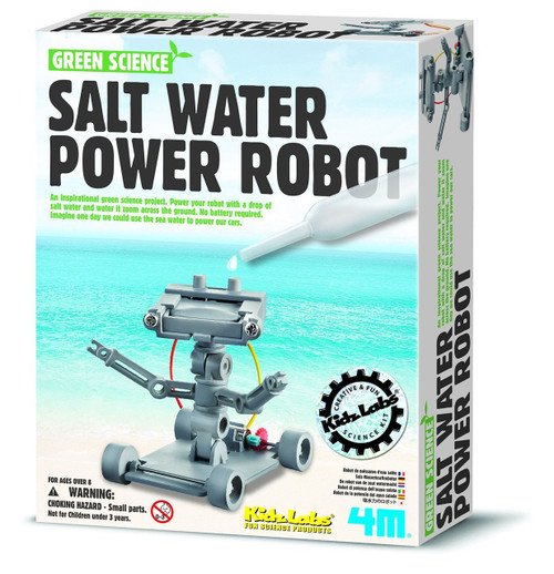 Green Science Salt Powered Robot 4M 178854