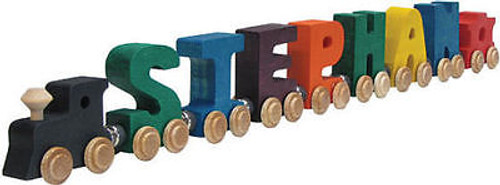 Name Train - Bright Color Childrens Wooden Trains