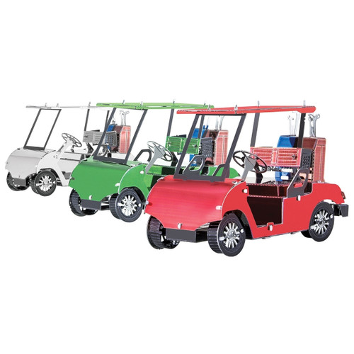 Metal Earth Golf Cart Set 3D Metal Model + Tweezer 11081
