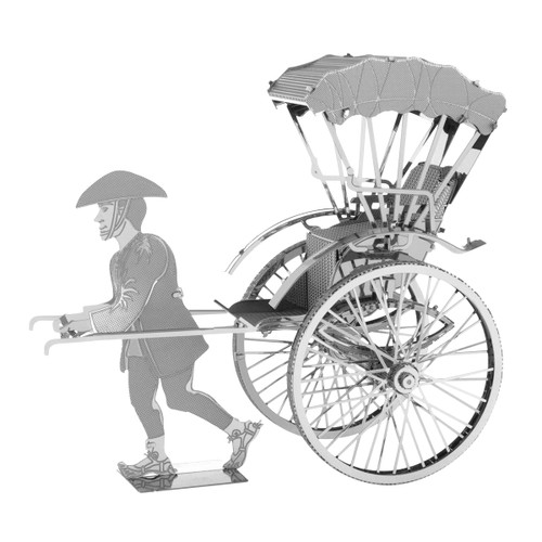 Metal Earth Japanese Rickshaw 3D Metal Model + Tweezer 11203