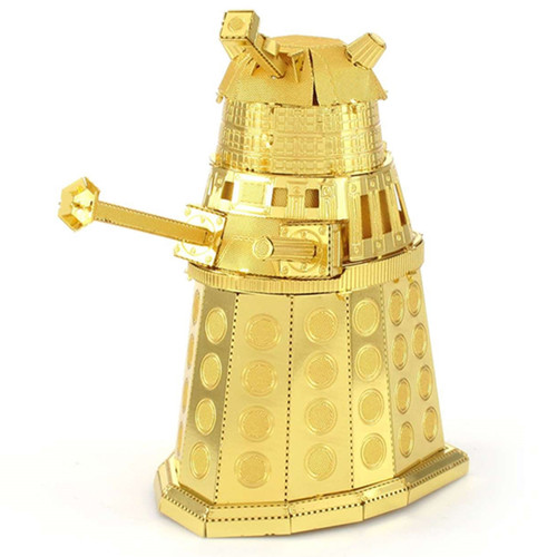 Metal Earth Doctor Who Gold Dalek 3D Metal Model + Tweezer 40012