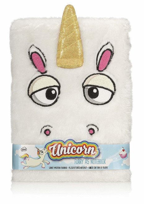 Unicorn Furry Notebook, 80-Pages NPW 57782