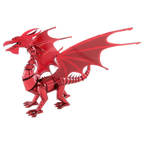 Metal Earth Iconx Red Dragon 3D Metal Model + Tweezers 13863