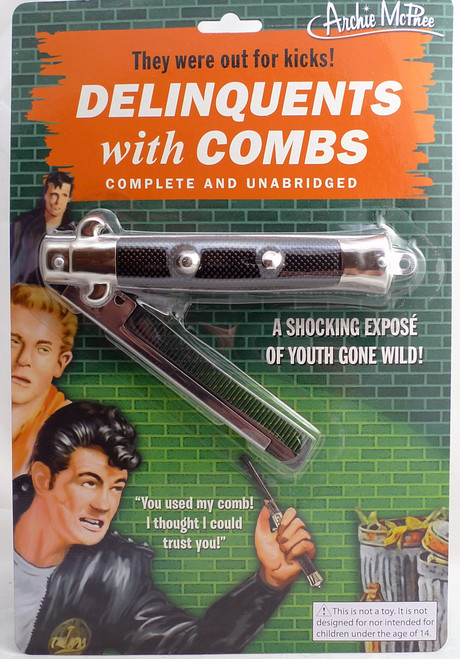 Accoutrements Delinquents Switchblade Comb 17639