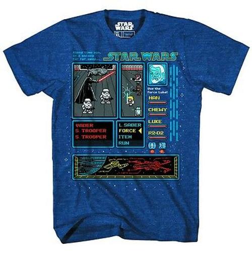 Star Wars RPG Ward Navy Heather T-Shirt XL