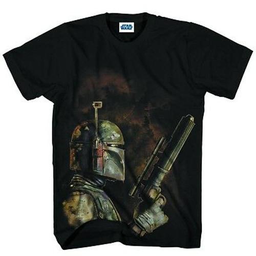 Star Wars T-Shirt Bounty Hunter Black Medium
