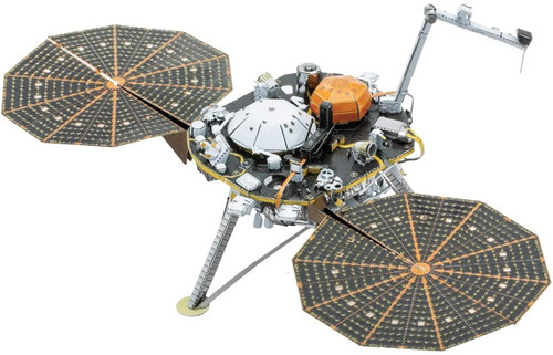 Metal Earth Insight Mars Lander 3D Metal Model + Tweezers 11937