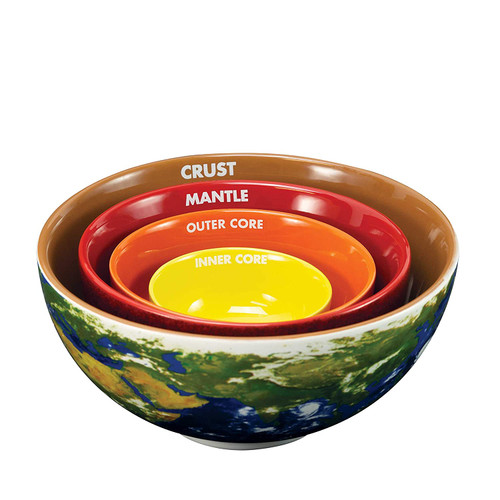 Earth Cross Section Nesting Bowls 21659