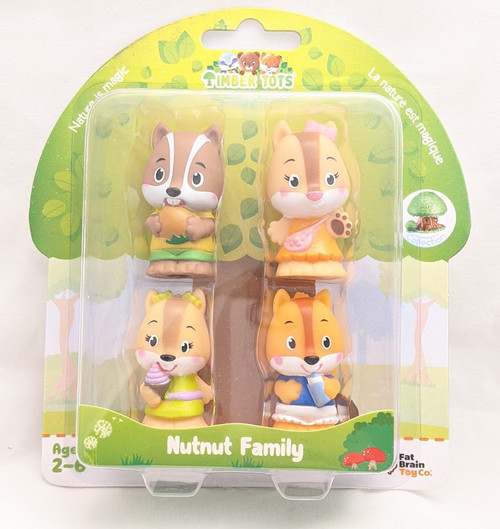 Toys Timber Tots NutNut Family 4 Figure Pack by Fat Brain 24862
