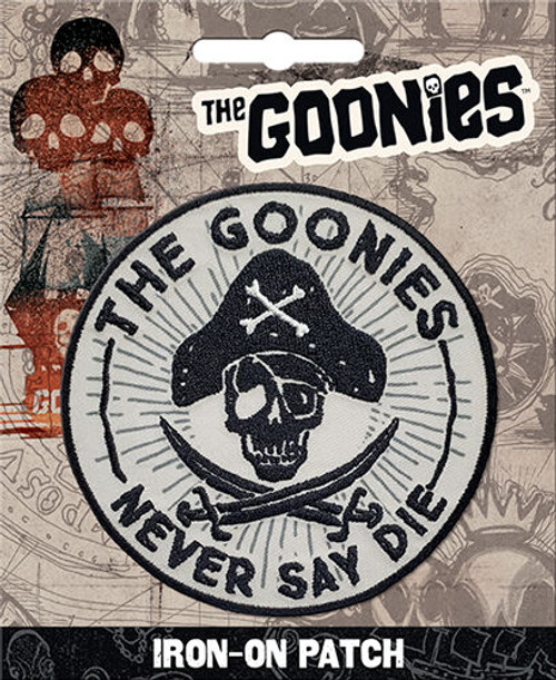 Goonies Never Say Die Iron On Patch Ata Boy 10687