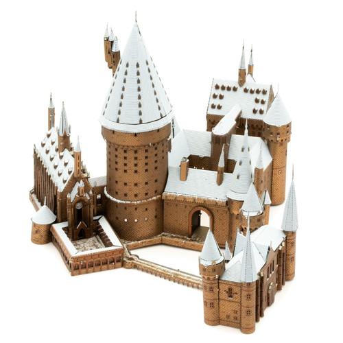 Metal Earth Iconx Harry Potter Hogwarts in Snow 3D Model  + Tweezers 15300