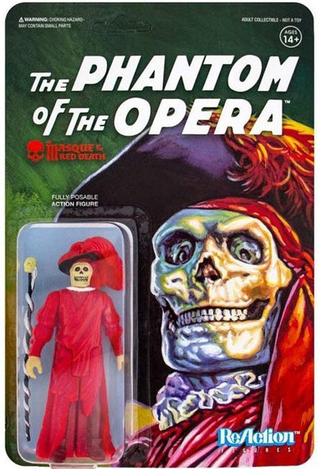 Phantom of the Opera ReAction Masque of the Red Death figure Super 7 32258