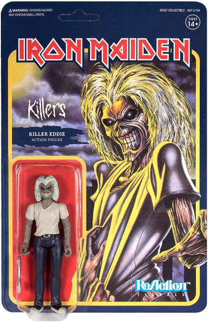 Iron Maiden ReAction Figure- Killer Eddie figure Super 7 30322