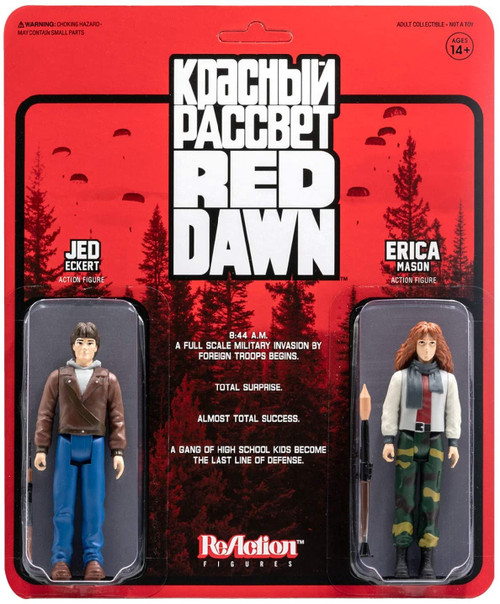 Red Dawn ReAction 2 pack Erica and Jed figure Super 7 05460